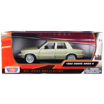 1982 Dodge Aries K Champagne / Gold 1/24 Diecast Model Car by Motormax 73335gld