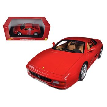 Ferrari F355 Berlinetta Coupe Red 1/18 Diecast Car Model by Hotwheels BLY57