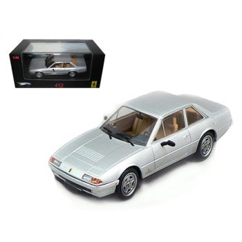 Ferrari 412 Silver Limited Edition Elite 1/43 Diecast Model Car by Hotwheels N5597