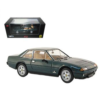 Ferrari 412 Green Limited Edition Elite 1/43 Diecast Model Car by Hotwheels N5598