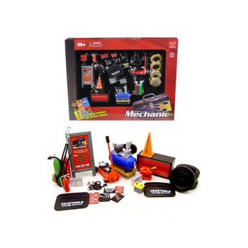 Mechanic Accessory Set For 1/24 Scale Cars 23 Pieces by Phoenix Toys 18415