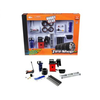 Tire Repair Shop Accessories Set Ford 1/24 Diecast Model Cars by Phoenix Toys 18422
