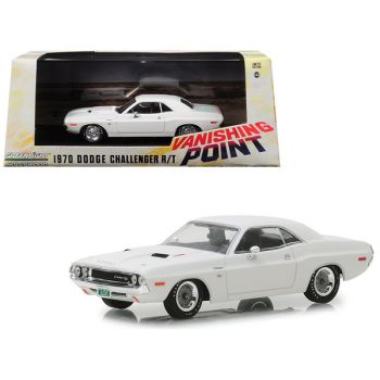 1970 Dodge Challenger R/T White Vanishing Point (1971) Movie 1/43 Diecast Model Car by Greenlight 86545