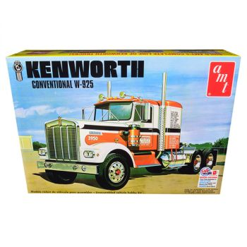 Skill 3 Model Kit Kenworth Conventional W-925 Tractor 1/25 Scale Model by AMT AMT1021