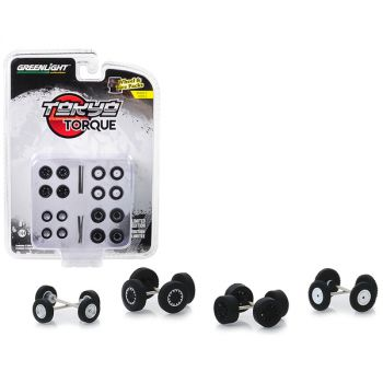 Tokyo Torque Wheels and Tires Multipack Set of 24 pieces Wheel & Tire Packs Series 2 1/64 by Greenlight 16030C