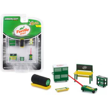 Turtle Wax 6 piece Shop Tools Set Shop Tool Accessories Series 1 1/64 by Greenlight 16020C