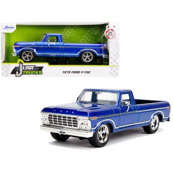 1979 Ford F-150 Pickup Truck Stock Candy Blue Just Trucks 1/24 Diecast Model Car by Jada 31597