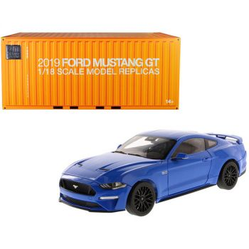 2019 Ford Mustang GT 5.0 Coupe Kona Blue 1/18 Diecast Model Car by Diecast Masters 61003