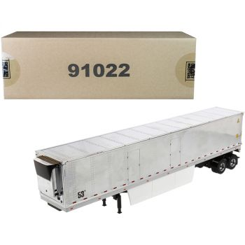 53\' Reefer Refrigerated Van Trailer Chrome Transport Series 1/50 Diecast Model by Diecast Masters 91022
