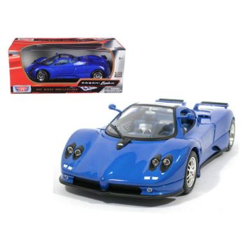 Pagani Zonda C12 Blue 1/18 Diecast Model Car by Motormax 73147bl