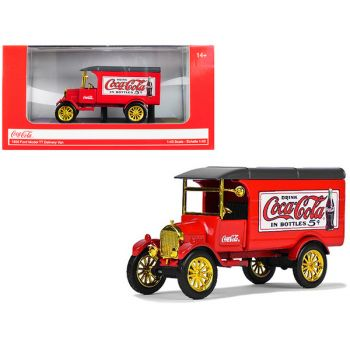 1926 Ford Model TT Delivery Van Coca-Cola Red with Gold Wheels 1/43 Diecast Model Car by Motorcity Classics 443026