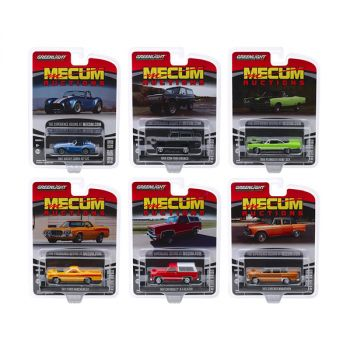 Mecum Auctions Collector Cars Set of 6 pieces Series 4 1/64 Diecast Model Cars by Greenlight 37190SET