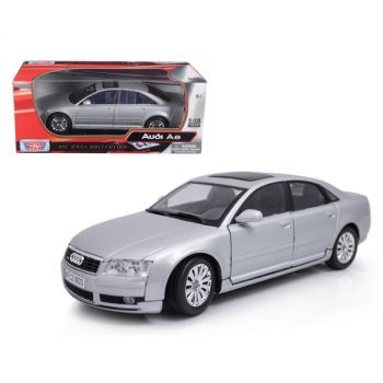 2004 Audi A8 Silver 1/18 Diecast Model Car by Motormax 73149s
