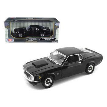 1970 Ford Mustang Boss 429 Black 1/18 Diecast Car Model by Motormax 73154bk