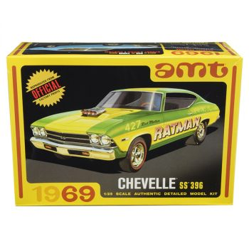 Skill 2 Model Kit 1969 Chevrolet Chevelle SS 396 3 in 1 Kit 1/25 Scale Model by AMT AMT1138