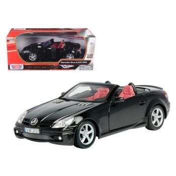 2005 Mercedes SLK55 AMG Black 1/18 Diecast Model Car by Motormax 73162bk
