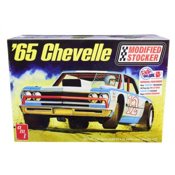 Skill 2 Model Kit 1965 Chevrolet Chevelle Modified Stocker 1/25 Scale Model by AMT AMT1177
