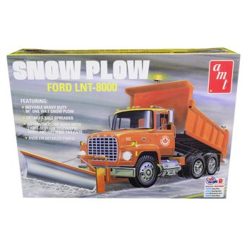 Skill 3 Model Kit Ford LNT-8000 Snow Plow Truck 1/25 Scale Model by AMT AMT1178