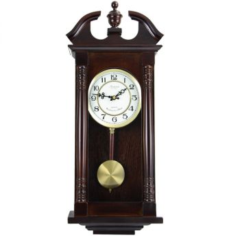 Bedford Clock Collection 27.5 Inch Cherry Oak Wall Clock