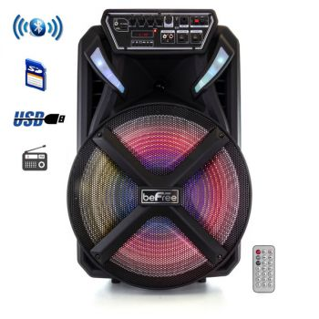 beFree Sound 15 Inch Bluetooth Portable Rechargeable Party Speaker