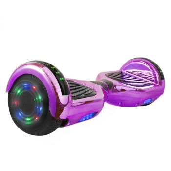 Hoverboard in Purple Chrome with Bluetooth Speakers