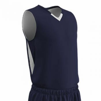 Champro Youth Pivot Reverse Basketball Jersey Navy White SM