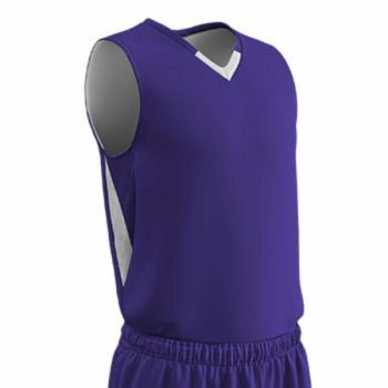 Champro Youth Pivot Reverse Basketball Jersey Purp White MD