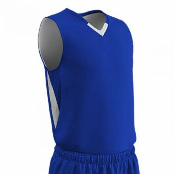 Champro Youth Pivot Reverse Basketball Jersey Royal White MD