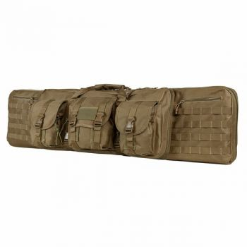 Vism Deluxe Double Rifle Case 46 inL x 13 inH-Tan