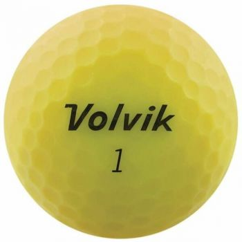 Volvik 2020 Vivid 3 Pc Golf Balls Matte Yellow