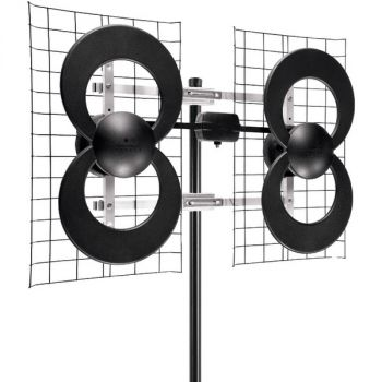 Antennas Direct C4-CJM ClearStream 4 Quad-Loop UHF Outdoor Antenna with 20