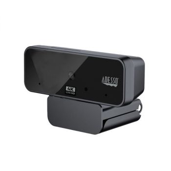 Adesso CyberTrack H6 4K Ultra HD USB Webcam with Built-In Dual Microphone and Privacy Shutter