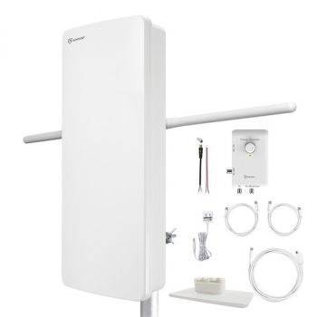 ANTOP Antenna Inc. AT-800SBS AT-800SBS HD Smart Panel Amplified HDTV and FM Amplified Indoor/Outdoor Antenna