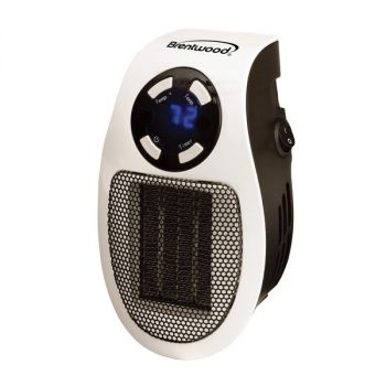 BRENTWOOD(R) APPLIANCES H-C350W 350-Watt Plug-In Wall Outlet Personal Space Heater
