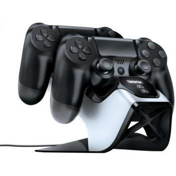 bionik BNK-9027 Power Stand Dual Controller Charging System for PlayStation 4