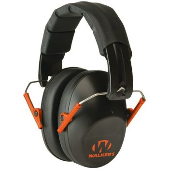 Walker's Game Ear GWP-FPM1-BKO PRO Low-Profile Folding Muff (Black/Orange)