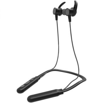 IESSENTIALS(R) IEN-BTEFX-GRY Flex Neck Band Sport Series Bluetooth Earbuds with Microphone (Gray)