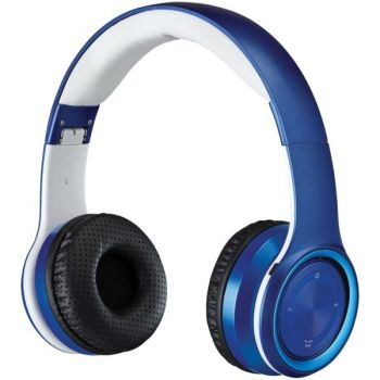 iLive IAHB239BU Bluetooth Over-the-Ear Headphones with Microphone (Blue)
