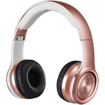 iLive IAHB239RGD Bluetooth Over-the-Ear Headphones with Microphone (Rose Gold)
