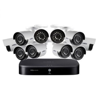 LOREX(R) DF162-A2NAE 1080p HD 16-Channel DVR Security System with 2 TB Hard Drive and Ten 1080p Night Vision Security Cameras