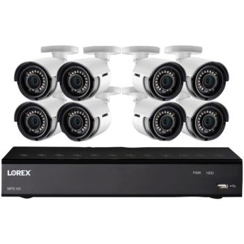 Lorex LHA21081TC8LC 1080p HD Security Camera System with 1 Terabyte 8-Channel DVR and Eight 1080p Bullet Cameras