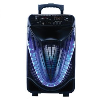NAXA(R) NDS-1233 Portable 12-Inch Bluetooth Party Speaker with Disco Light