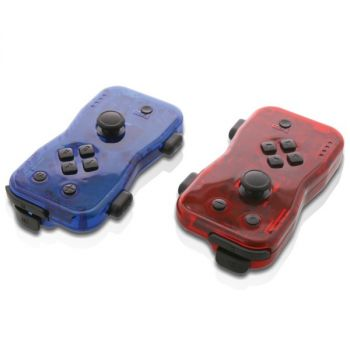 Nyko 87268 Dualies Motion Controller Set for Nintendo Switch (Red and Blue)