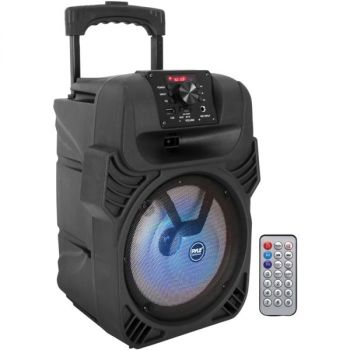 Pyle PPHP844B Portable Bluetooth PA Speaker and Microphone System
