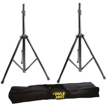 PYLE PRO(R) PSTK103 Dual Heavy-Duty Speaker Stands with Traveling Bag Kit