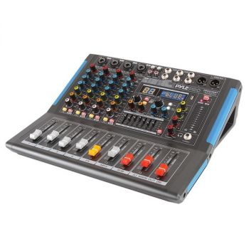 PYLE(R) PMXU46BT 4-Channel Bluetooth Studio Pro Audio DJ Mixer
