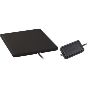 RCA ANT1450BE Multidirectional Amplified Indoor Flat HDTV Antenna