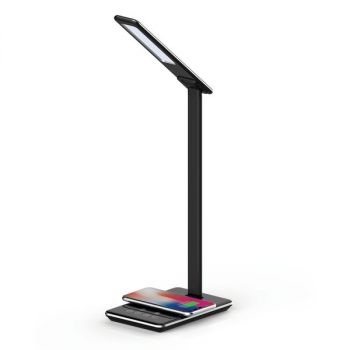 Supersonic SC-6040QI- Black LED Desk Lamp with Qi Charger (Black)