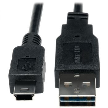 TRIPP LITE(R) UR030-003 A-Male to Mini B-Male Reversible USB 2.0 Cable, 3ft