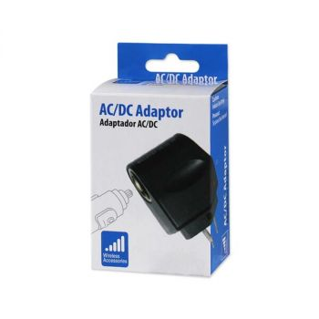 REIKO 650MAH AC TO DC WALL ADAPTER TO CAR CHARGER IN BLACK  AC-DC